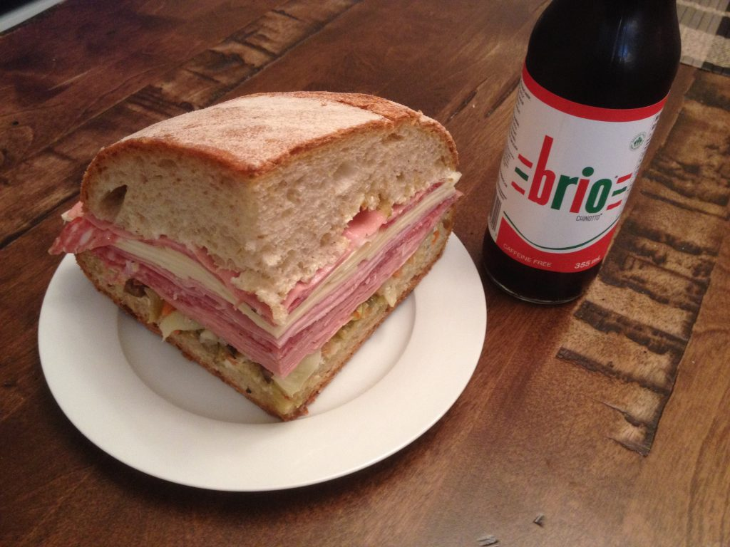 how to make a Muffuletta Sandwich, Brio