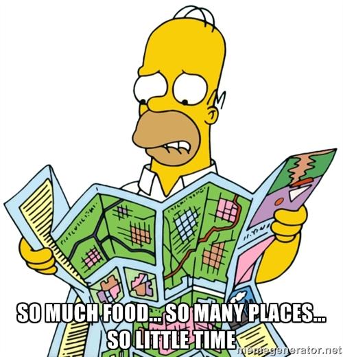 Homer Simpson food meme