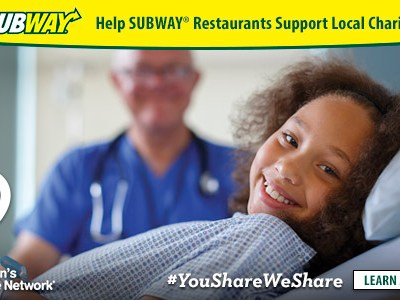 Eat at SUBWAY, Help Children's Miracle Network. Win/Win