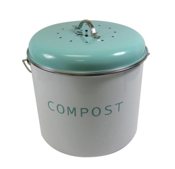 Blue compost bin
