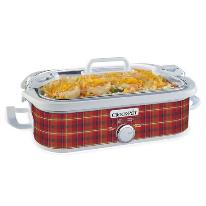 plaid crockpot