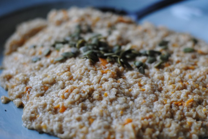 vegan.sweet potato oatmeal