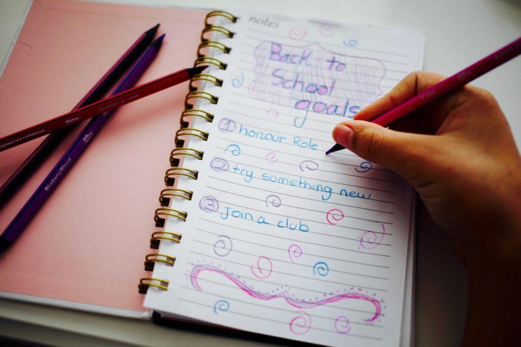 preparing teens for back to school, setting goals