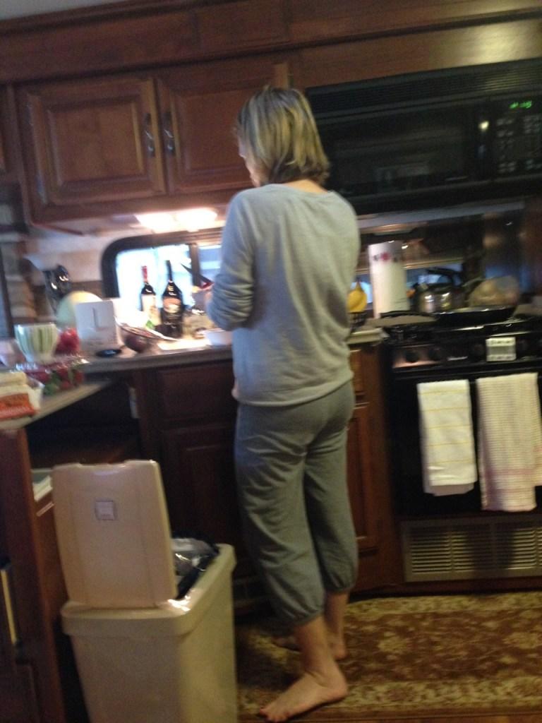 RV escape, cooking in RV
