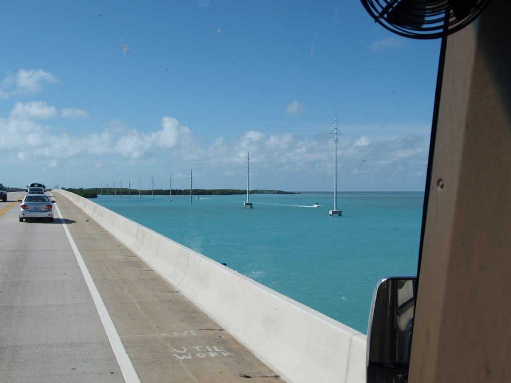 RV escape, road ahead, getting away from it all, Florida keys