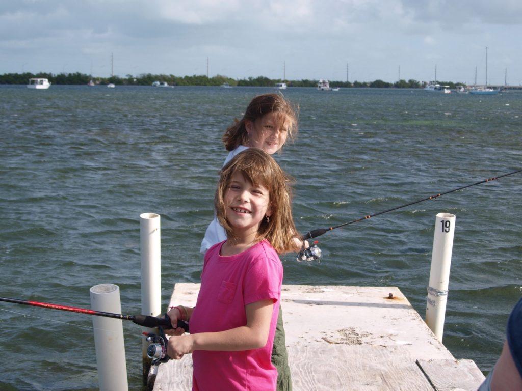 RV escape, fishing in RV park, Florida Keys, Boyd's Campground Keys