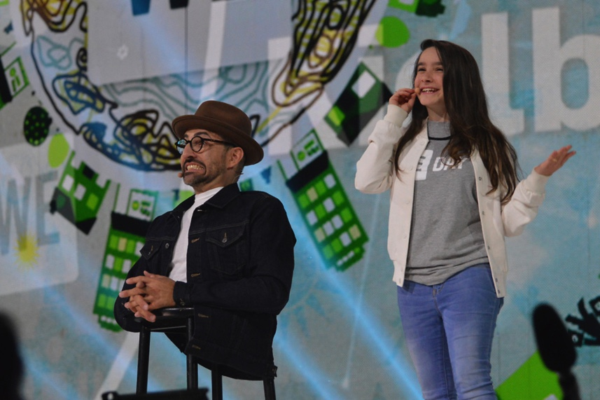Hannah Alper, Spencer West, WE Day, Co-host