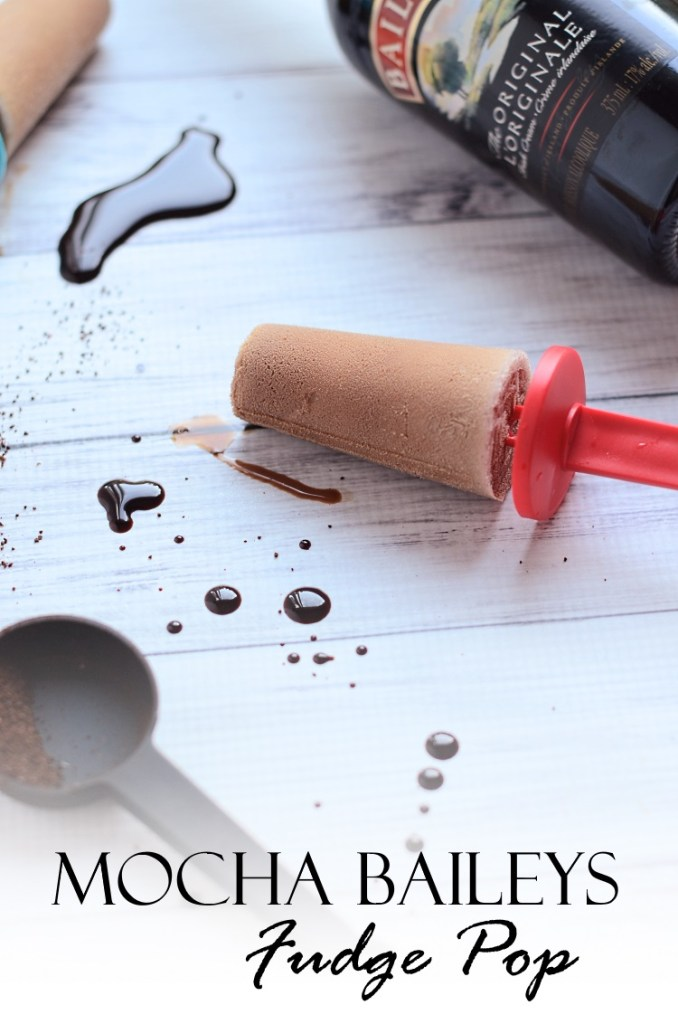 Mocha Baileys Fudge Pop, Adults need cool summer treats too! Try these luscious Mocha Baileys Fudge Pops, made with coffee, chocolate, and decadent, rich cream!   popsicles   alcoholic
