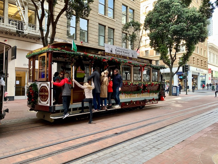 stuck in San Francisco, trolley car, Powell street, CityPASS