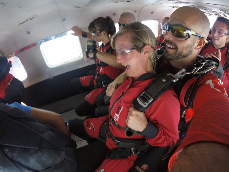 skydiving in Ottawa, fear before the leap
