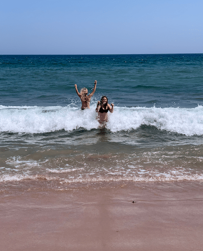 Ingonish Beach, best waves in Cape Breton, fun in the ocean