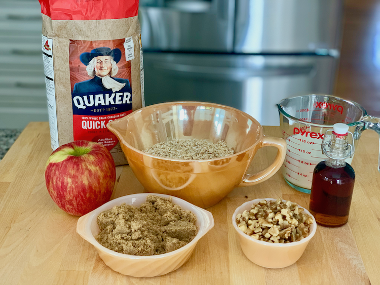 Baked Oatmeal ingredients, what you need for baked oatmeal