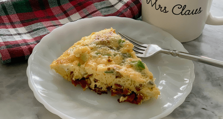 Anytime Frittata with Feta, Sun-Dried Tomatoes and Basil #RecipesThatGive