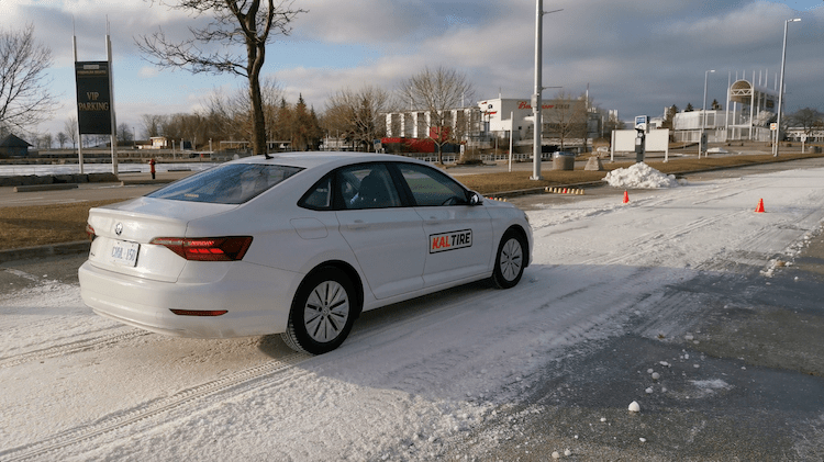 testing all-weather vs all-season tires with Kaltire at Ontario Place