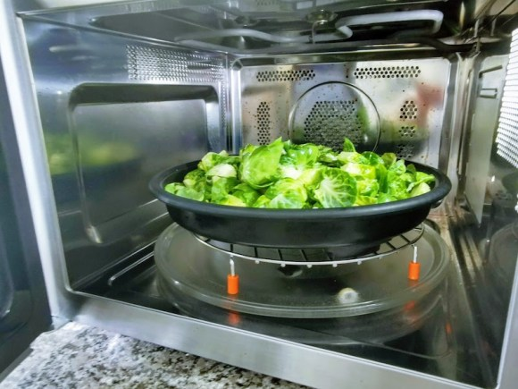 easy air fryer brussels sprouts recipe, asian inspired