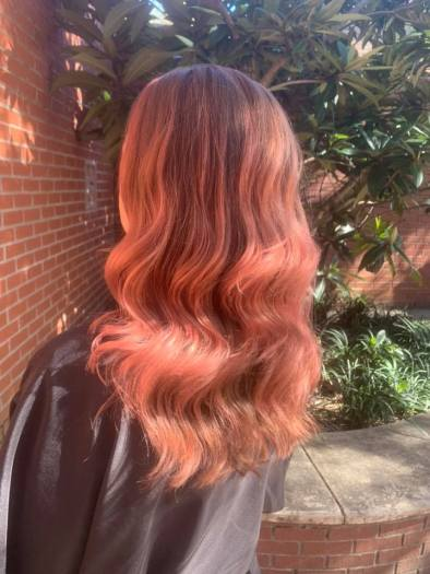 Rose gold hair color from Salon Euphoria in Summerville