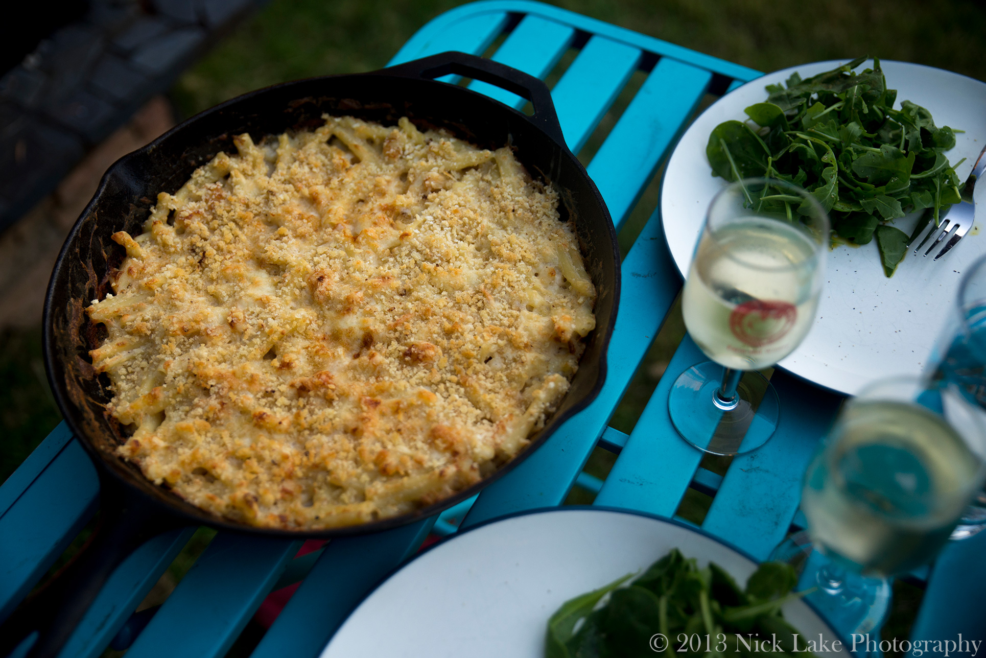 Cast Iron Skillet Mac and Cheese Anniversary Picnic