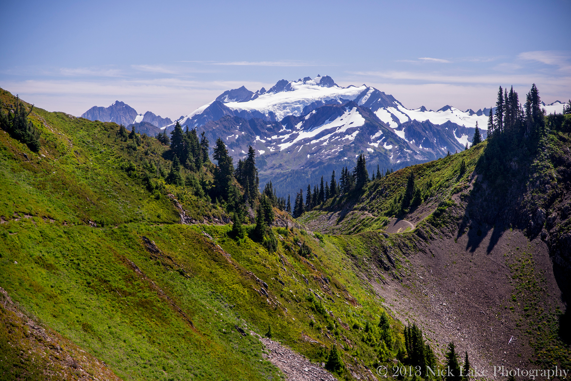 Mount Olympus from High Divide Trail Olympic National Park Washington