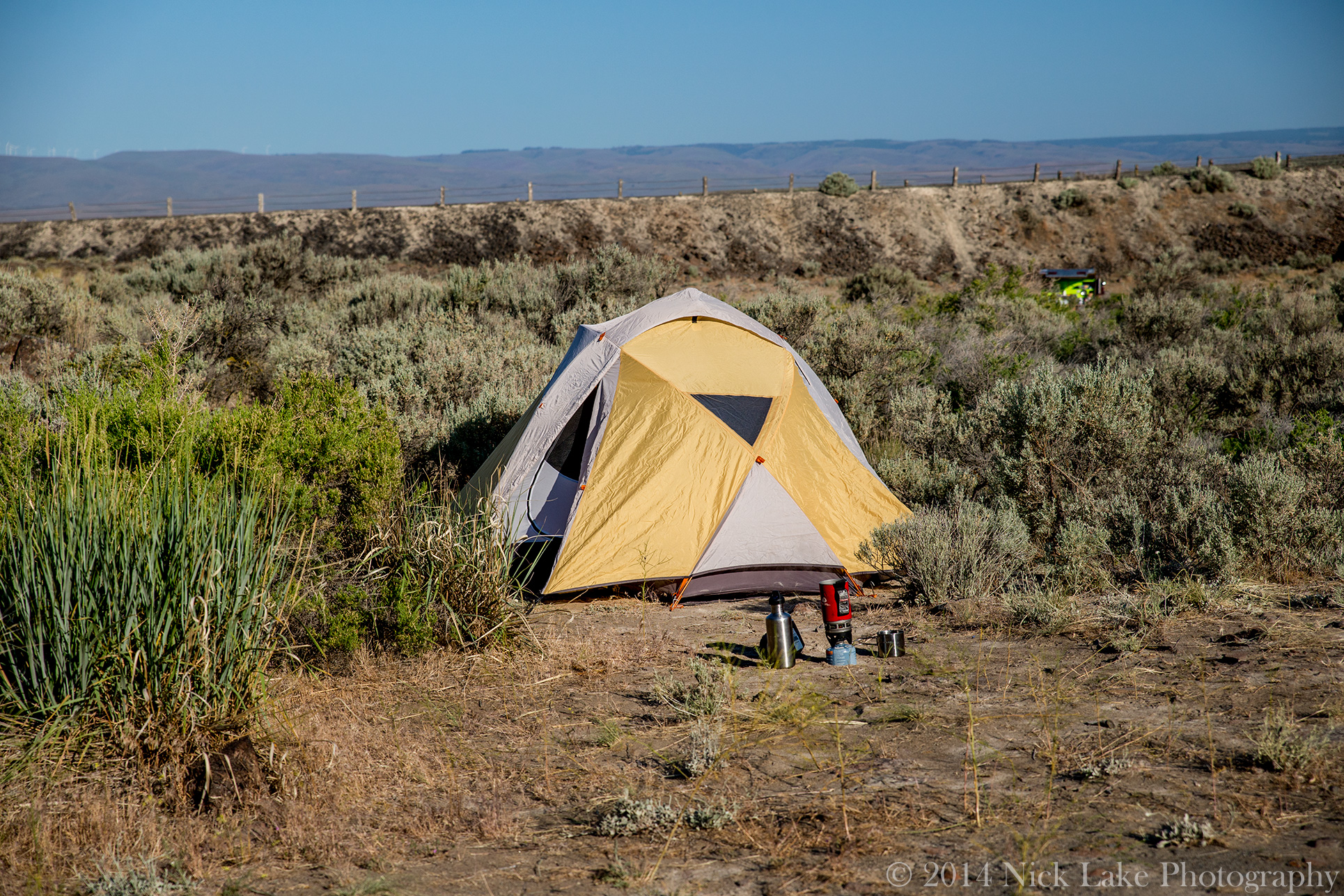 Camping Tent Frenchman Coulee Vantage Washington