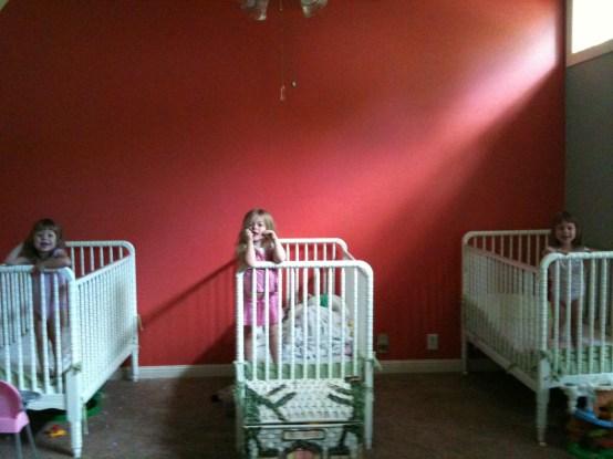 three cribs