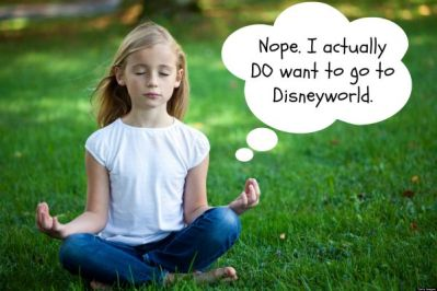 meditating on disneyworld
