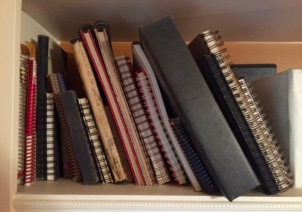 shelf of journals
