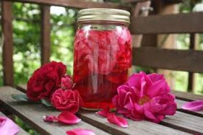 is a sweet preserve of rose petals