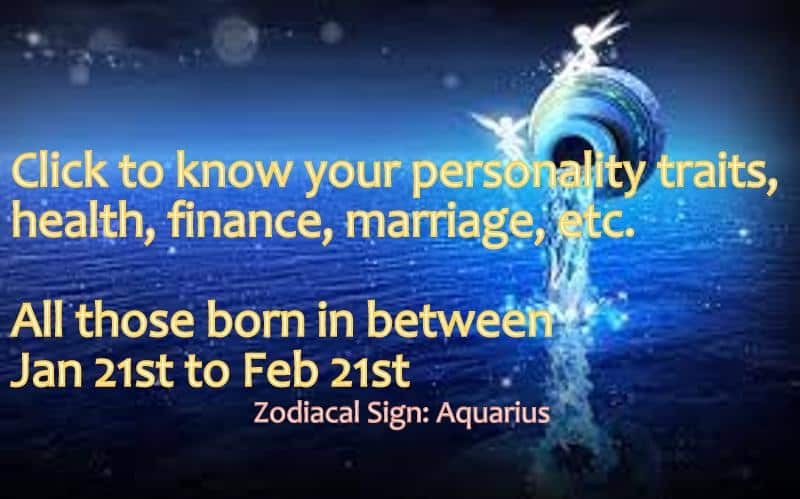 Numerology of Aquarius Zodiac signs dates - Life In Vedas