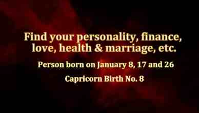 January birthday personality Birth Number 8