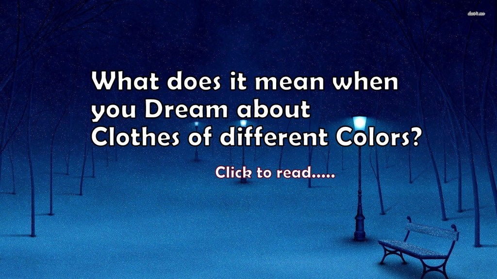 Different meanings of dreams