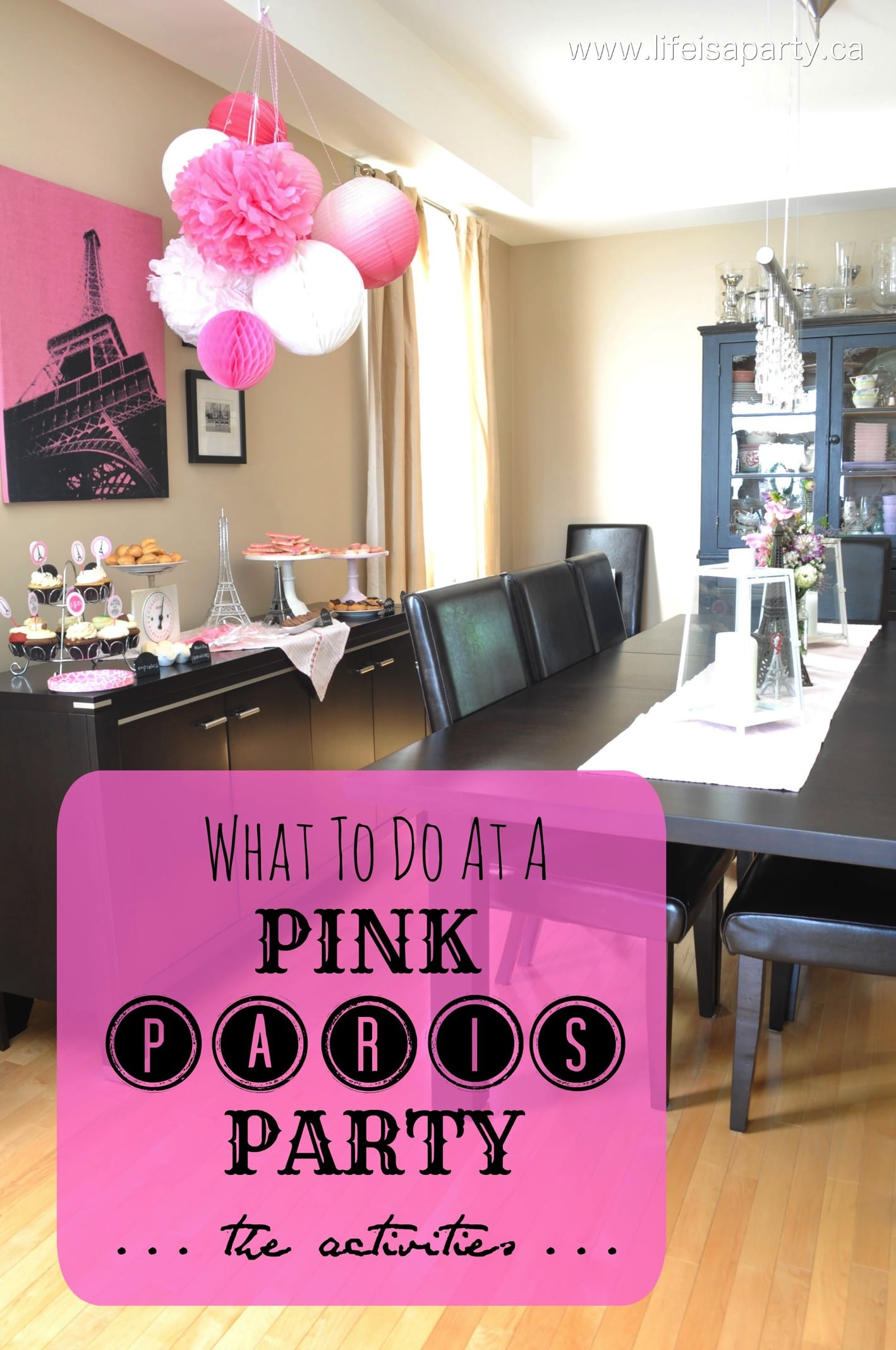 Paris Birthday Party  Part One: Party Activities And Decorations