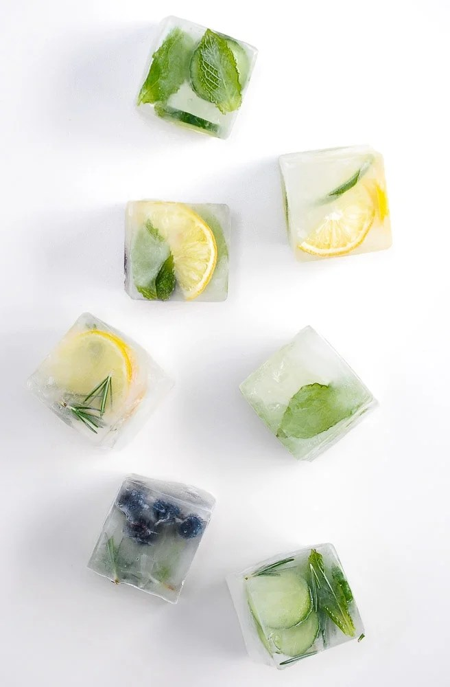 Fruit-herb-ice-cubes