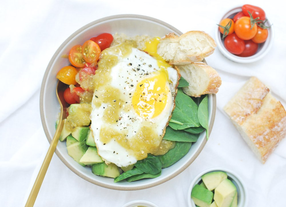 Parmesan Quinoa Bowl with Fried Egg-6