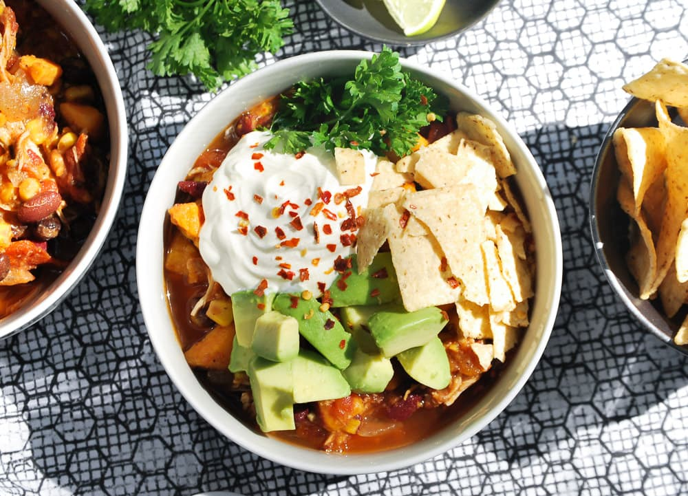 Slow Cooker Sweet Potato and Chicken Chili-8