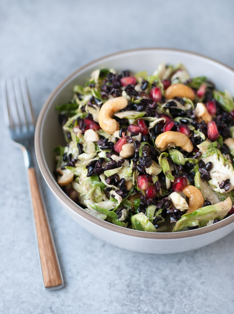 Shaved Brussels Sprouts Salad with Lemon Caper Dressing-4