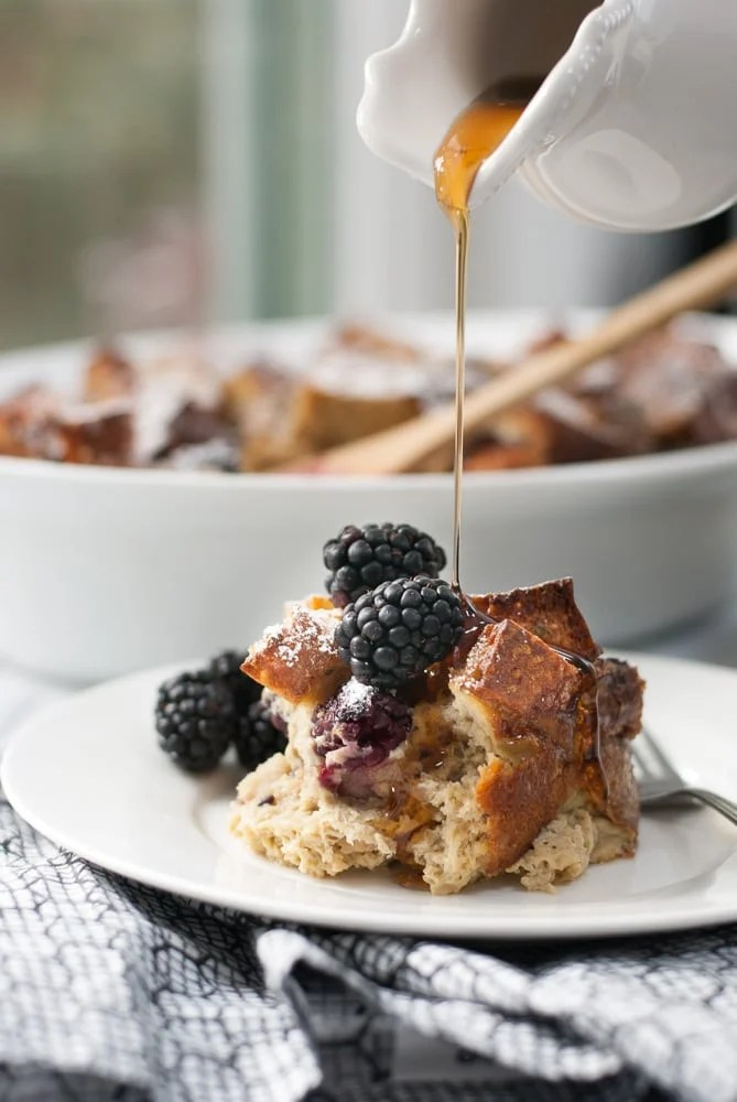 Baked Multigrain Blackberry French Toast