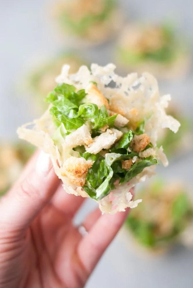 Mini Chopped Ceasar Salad Cups-7