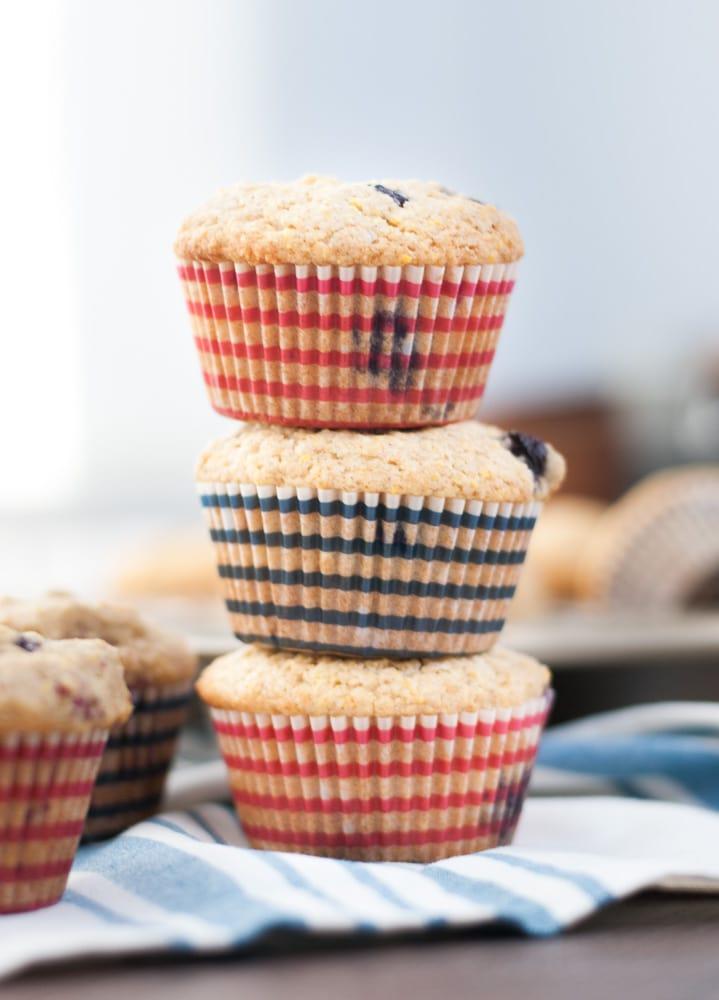 Whole Wheat Berry Corn Muffins-2