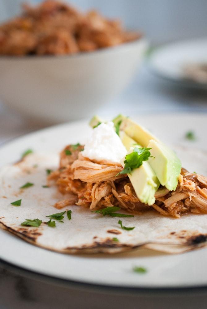 Easy Slow Cooker Chicken Fajitas-4