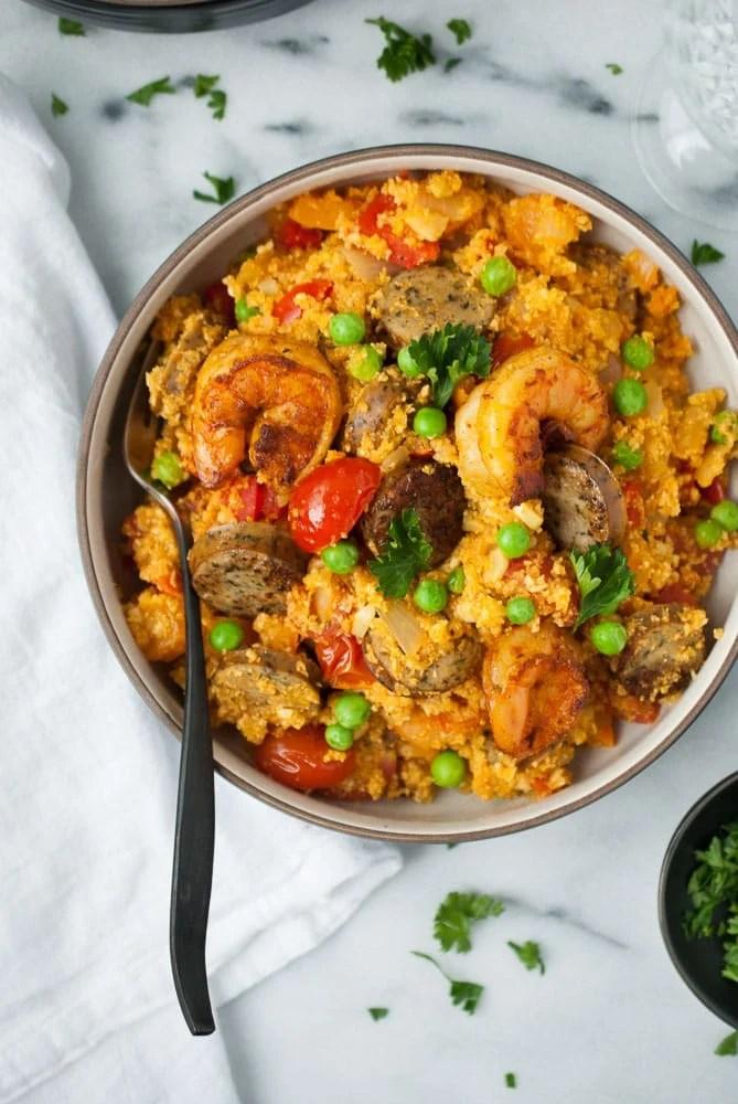 Cauliflower Rice Paella-3