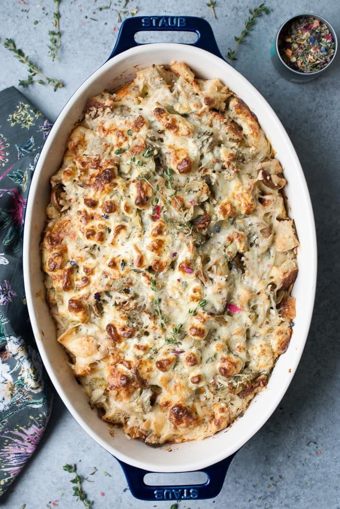 Artichoke & Goat Cheese Breakfast Bake-4