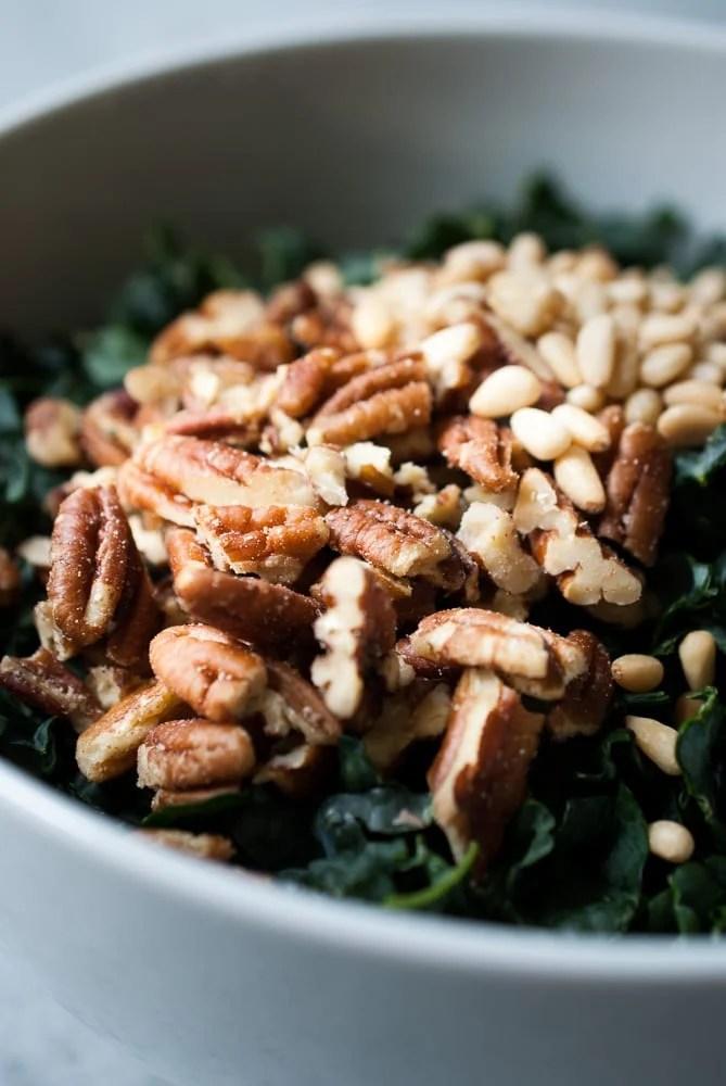 Chopped Kale Salad w- Pecans, Cranberries, & Herb Dressing-2