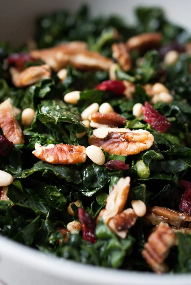 Chopped Kale Salad w- Pecans, Cranberries, & Herb Dressing-7