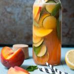 Sparkling Peach & Cucumber Lemonade