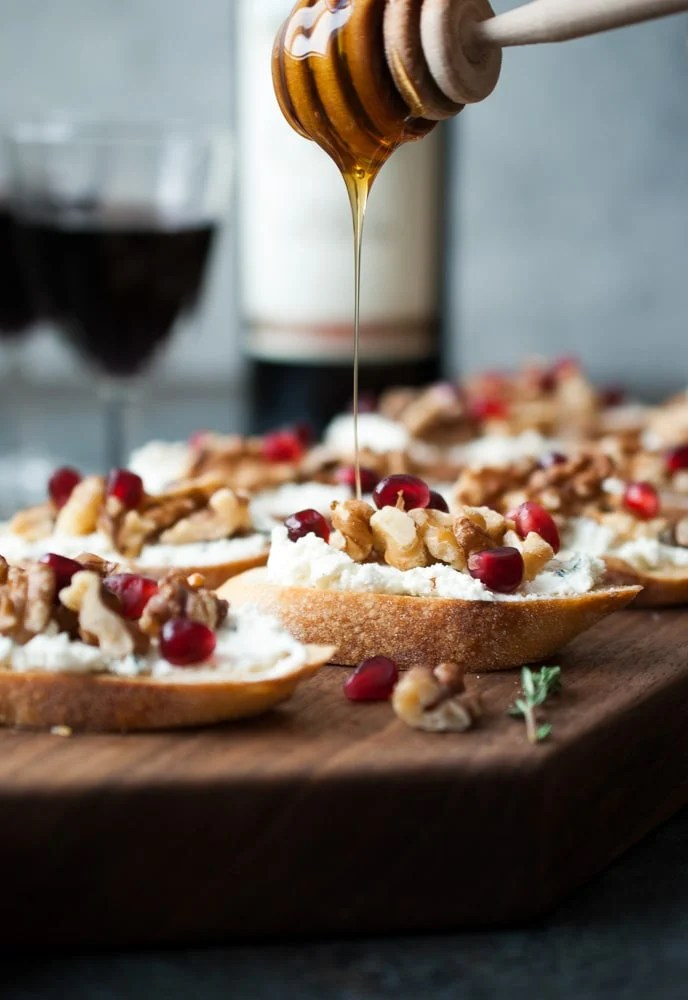 Goat Cheese & Walnut Crostini