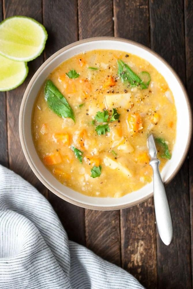 Instant Pot Split Pea & Lentil Soup