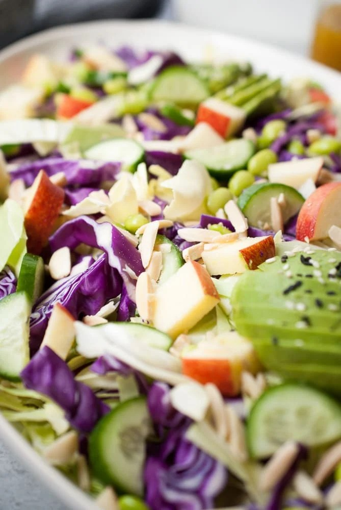 Cabbage Salad w/ Apples, Cucumber & Avocado