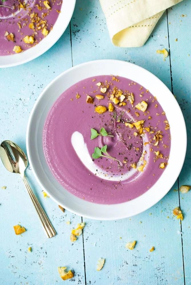 Purple Sweet Potato Unicorn Soup