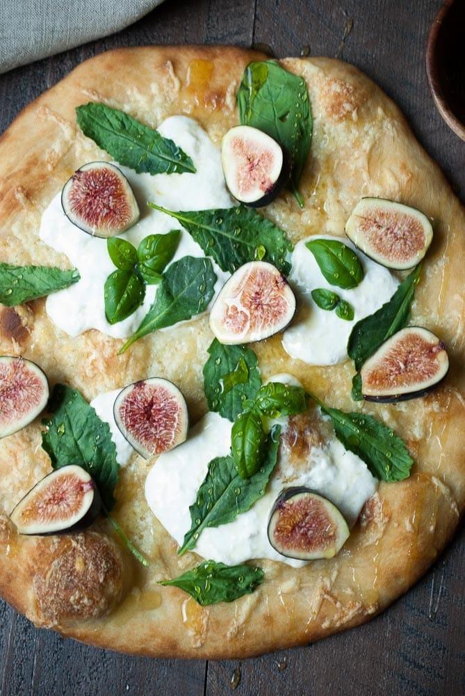 Fresh Fig & Burrata Pizza
