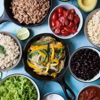 Poblano Pepper Burrito Bowls